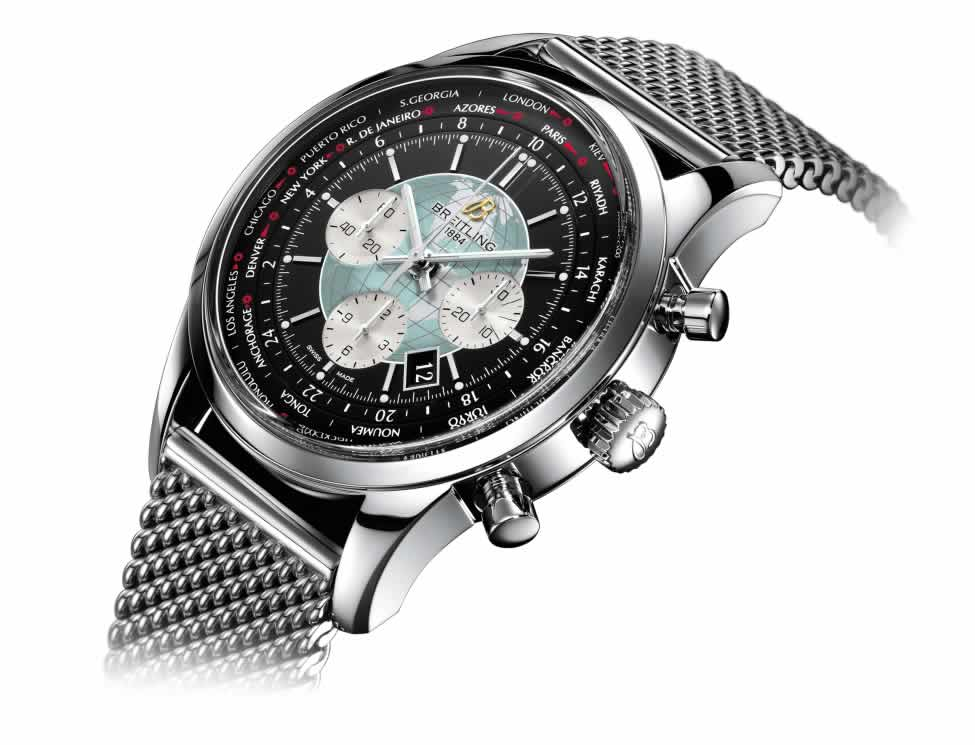 Breitling Transocean Chronograph Unitime knock off